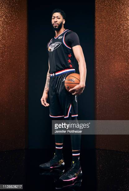 Anthony Davis of Team LeBron poses for a portrait before the 2019 NBA AllStar game on February 17 2019 at the Spectrum Center in Charlotte North...