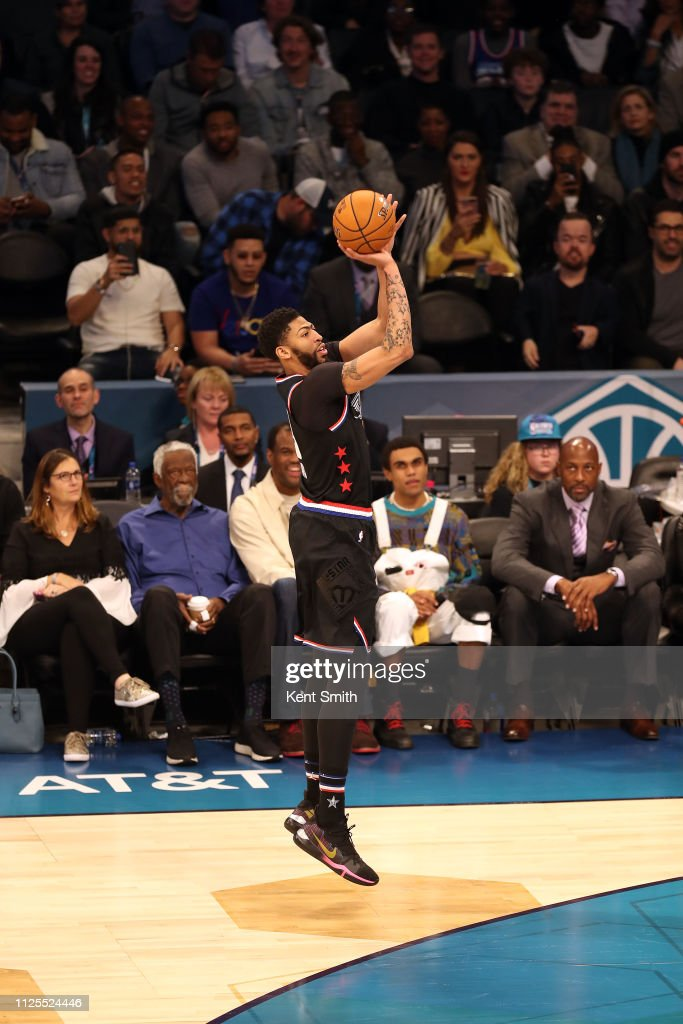 Anthony Davis of Team LeBron shoots a three point basket after the ... da2851540