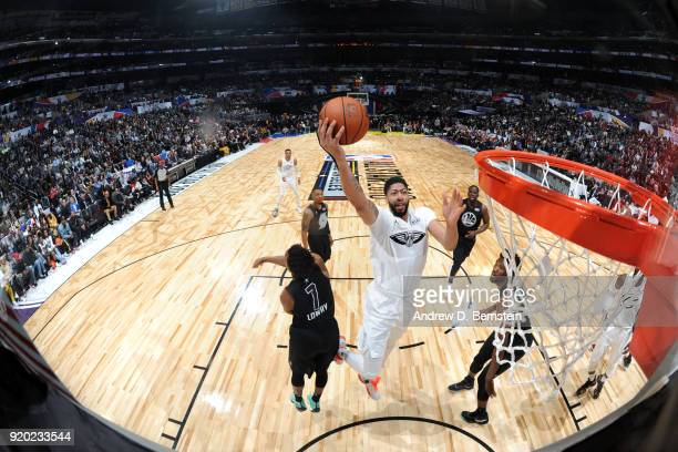 Anthony Davis Of Team LeBron shoots the ball during the NBA AllStar Game as a part of 2018 NBA AllStar Weekend at STAPLES Center on February 18 2018...