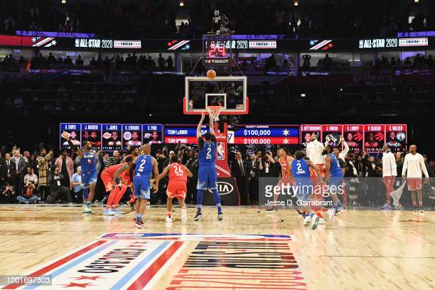 Anthony Davis of Team LeBron shoots the game winning free throw during the 69th NBA All-Star Game on February 16, 2020 at the United Center in...