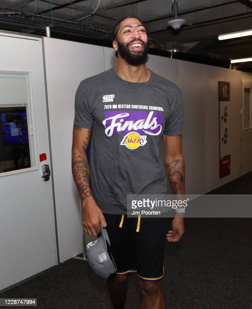 Anthony Davis of the Los Angeles Lakers after the game against the Denver Nuggets in Game five of the Western Conference Finals of the 2020 Playoffs...
