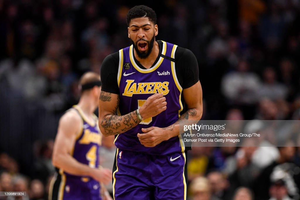 DENVER NUGGETS VS LOS ANGELES LAKERS, NBA REGULAR SEASON : News Photo