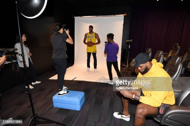Anthony Davis of the Los Angeles Lakers poses for a portrait after a press conference on July 13 2019 at the UCLA Health Training Center in El...