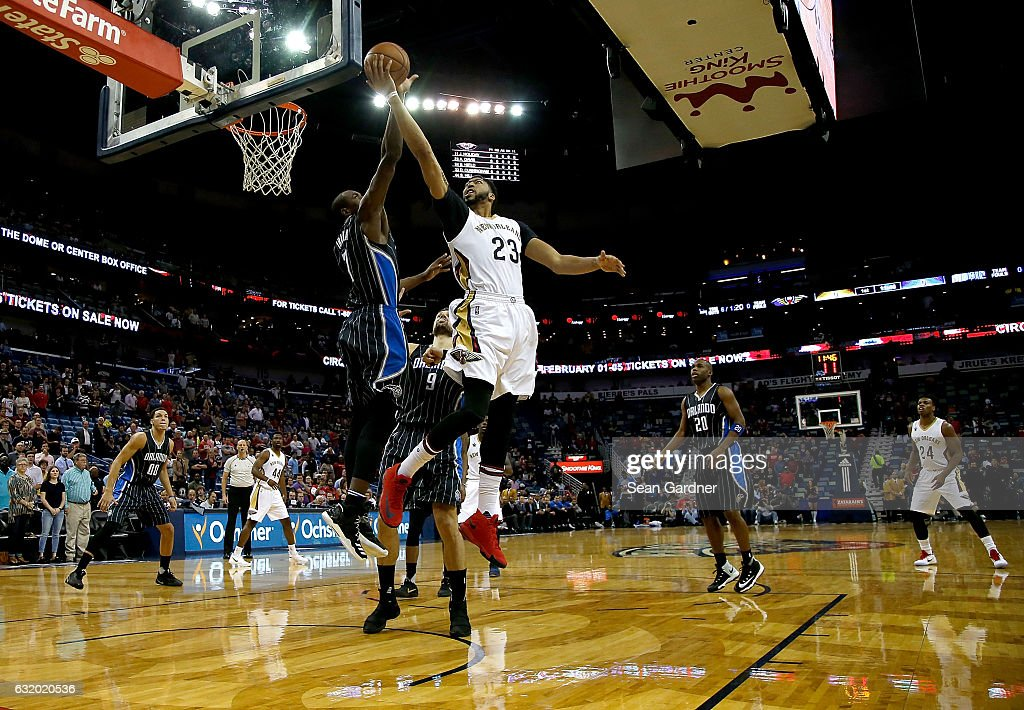 Nice Anthony Davis #23 Of The New Orleans Pelicans Of The New Orleans Pelicans  Is Blocked
