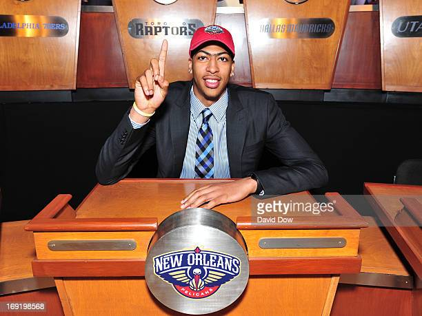 Anthony Davis of the New Orleans Pelicans poses for a photo prior to the 2013 NBA Draft Lottery on May 21 2013 at the ABC News' 'Good Morning...