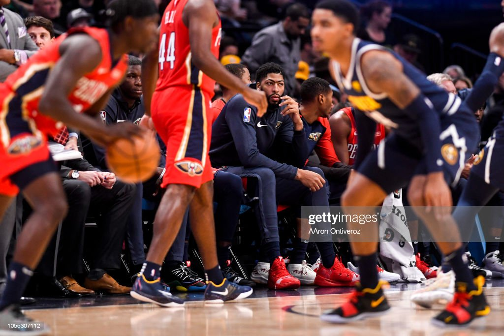 DENVER NUGGETS VS NEW ORLEANS PELICANS, NBA : News Photo