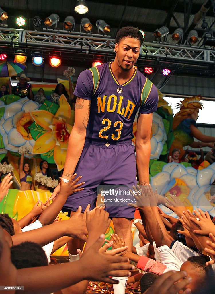 Anthony Davis Of The New Orleans Pelicans Unveils The Mardi