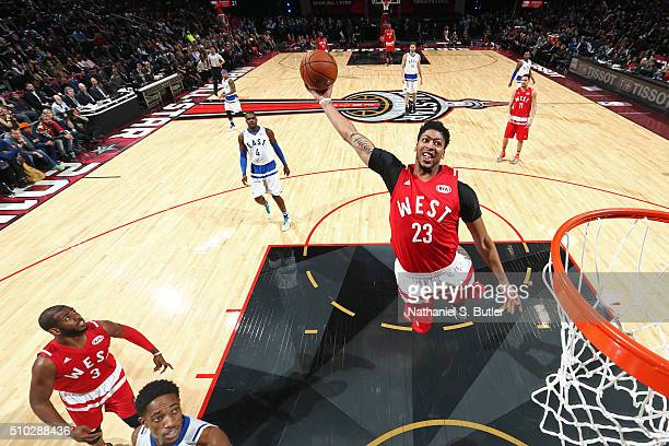 Anthony Davis of the Western Conference dunks the ball during the NBA AllStar Game as part of 2016 NBA AllStar Weekend on February 14 2016 at the Air...