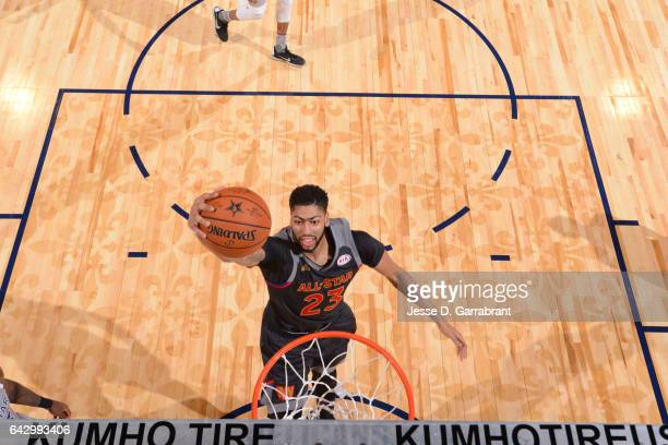 Anthony Davis of the Western Conference dunks the ball during the NBA AllStar Game as part of the 2017 NBA All Star Weekend on February 19 2017 at...
