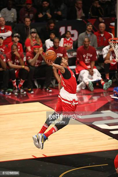 Anthony Davis of the Western Conference goes up for a dunk against the Eastern Conference during the 2016 NBA AllStar Game on February 14 2016 at the...