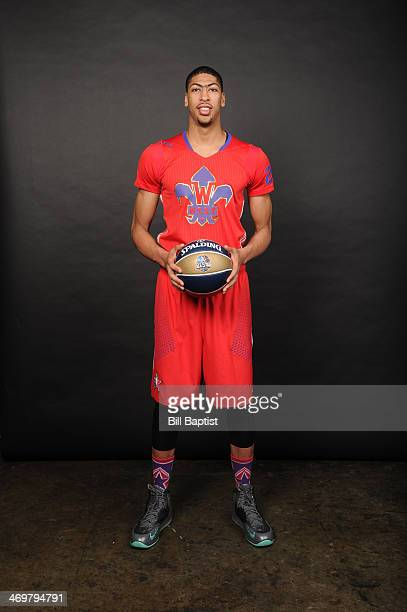 Anthony Davis of Western Conference AllStars poses for a portrait prior to the of the 2014 NBA AllStar Game on February 16 2014 at the Smoothie King...