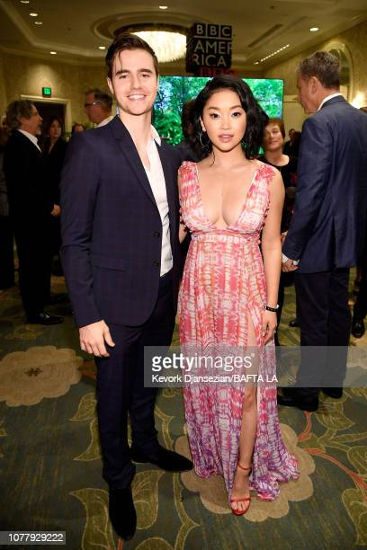 Anthony De La Torre and Lana Condor attend The BAFTA Los Angeles Tea Party at Four Seasons Hotel Los Angeles at Beverly Hills on January 5 2019 in...