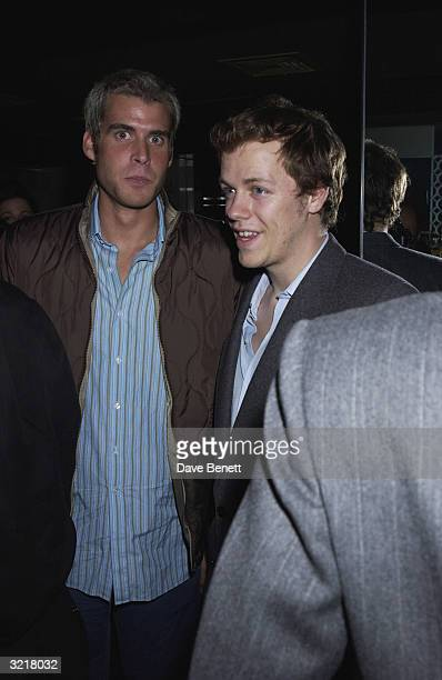 Anthony De Rothschild with Tom Parker Bowles at an end of summer party at the 'Attica' nightclub The party was hosted by Alexandra Aitken socialite...