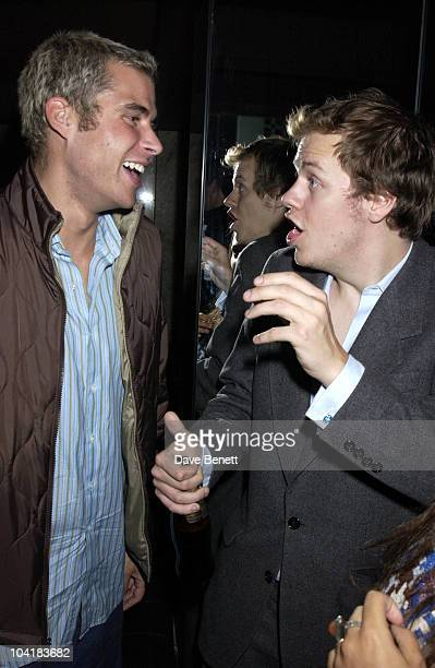 Anthony De Rothschild With Tom Parker Bowles Girl About Town Alexandra Aitken Threw And End Of Summer Party At Attica Night Clubwhere They Got Some...