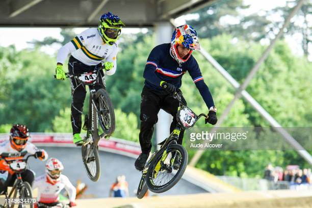 Anthony Dean of Australia and Joris Daudet of France during the BMX World Cup on June 8 2019 in St Quentin France