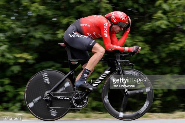 Anthony Delaplace of France and Team Arkéa - Samsic during the 73rd Critérium du Dauphiné 2021, Stage 4 a 16,4km Individual Time Trial stage from...