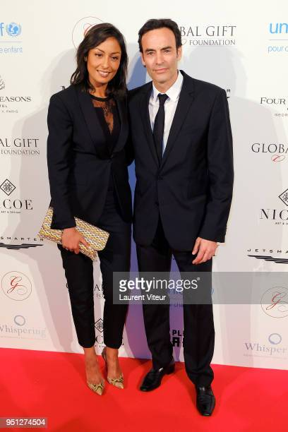 Anthony Delon and guest attend Global Gift Gala Paris 2018 at Four Seasons Hotel George V on April 25 2018 in Paris France