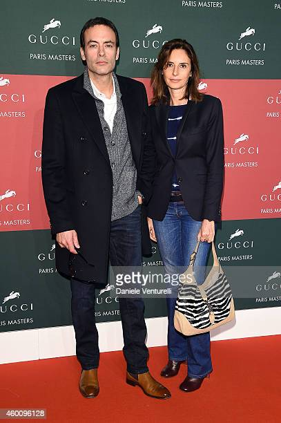 Anthony Delon and guest attend the Gucci Paris Masters 2014 at Paris Nord Villepinte on December 7 2014 in Paris France
