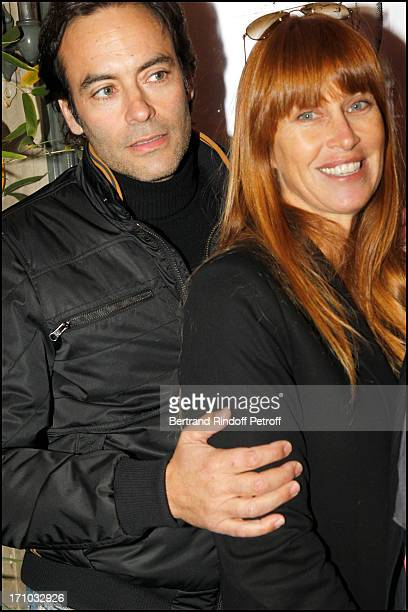 Anthony Delon and his wife Sophie Clerico Delon at Exhibition Opening Of The Collection Nicolas Laugero Lasserre At Gallery Galerie Caplain Matignon...