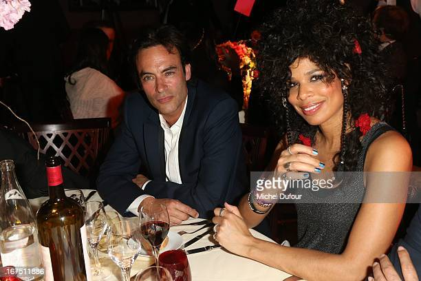 Anthony Delon and Sam attend the 'Les P'tits Cracks' charity dinner at Pavillon ChampsElysees on April 25 2013 in Paris France