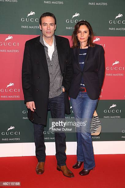 Anthony Delon and Valerie Bernard attend the Gucci Paris Master Day 4 on December 7 2014 in Villepinte France