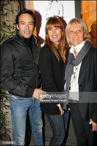 Anthony Delon with his wife Sophie Clerico Delon Sophie Litras at Exhibition Opening Of The Collection Nicolas Laugero Lasserre At Gallery Galerie...