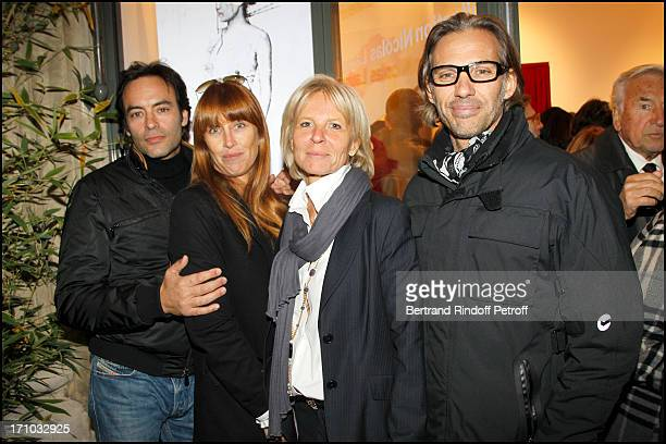 Anthony Delon with his wife Sophie Clerico Delon Sophie Litras Paul Belmondo at Exhibition Opening Of The Collection Nicolas Laugero Lasserre At...