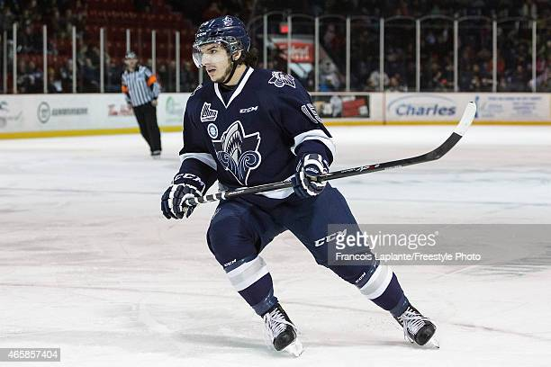 Anthony DeLuca of the Rimouski Oceanic skates during a game against the Gatineau Olympiques on February 22 2015 at Robert Guertin Arena in Gatineau...