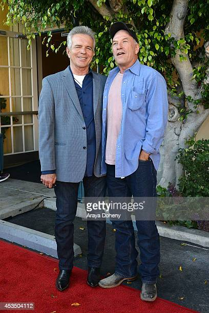Anthony Denison and Ted Levine arrive at the screening of 'Child Of Grace' Arrivals at Raleigh Studios on August 11 2014 in Los Angeles California