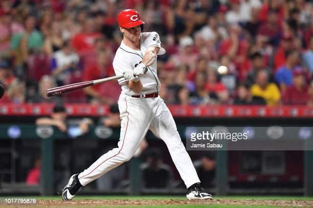 Anthony DeSclafani of the Cincinnati Reds bats against the Arizona Diamondbacks at Great American Ball Park on August 10 2018 in Cincinnati Ohio