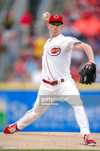 Jesse Winker of the Cincinnati Reds hits a single during the fourth inning against the Pittsburgh Pirates at Great American Ball Park on July 21 2018...