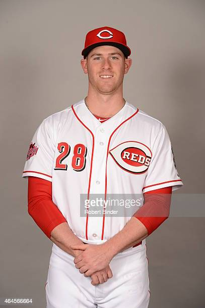 Anthony DeSclafani of the Cincinnati Reds poses during Photo Day on Thursday February 26 2015 at Goodyear Ballpark in Goodyear Arizona
