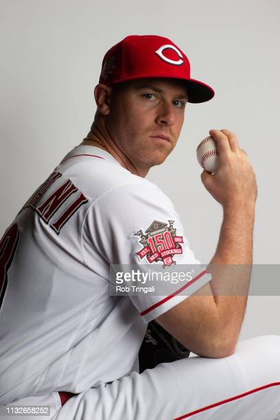 Anthony DeSclafani of the Cincinnati Reds poses for a portrait at the Cincinnati Reds Player Development Complex on February 19 2019 in Goodyear...
