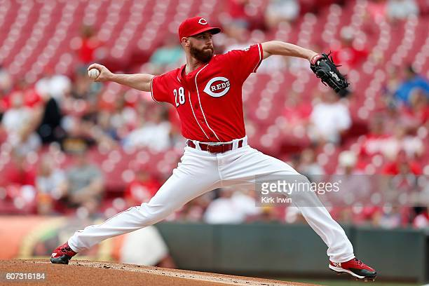 Anthony DeSclafani of the Cincinnati Reds throws a pitch during the top of the first inning of the game against the Pittsburgh Pirates at Great...