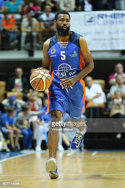 Anthony Dobbins of Gravelines during the Final match between Strasbourg and Gravelines Dunkerque at Tournament ProStars at Salle Arena Loire on...