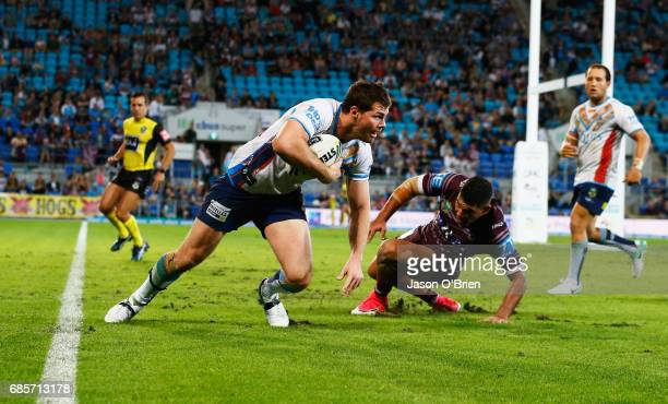 Anthony Don of the Titans in action during the round 11 NRL match between the Gold Coast Titans and the Manly Sea Eagles at Cbus Super Stadium on May...