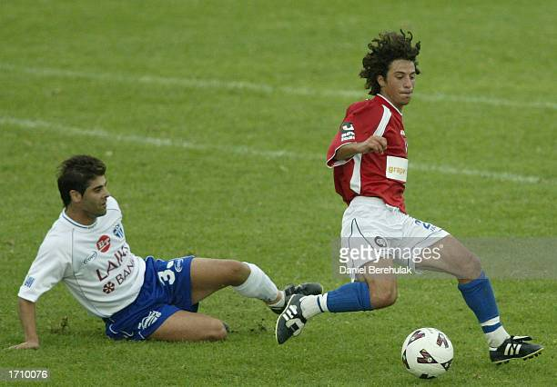 Anthony Doumanis of United in action during the NSL round 16 match between Sydney United and South Melbourne at the Sydney United Sports Centre in...