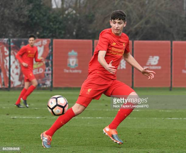 Anthony DriscollGlennon of Liverpool in action during the Liverpool v Wolverhampton Wanderers U18 Premier League game at The Academy on February 18...