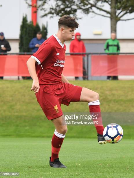 Anthony DriscollGlennon of Liverpool in action during the Liverpool v Blackburn Rovers U18 Premier League game at The Kirkby Academy on August 19...