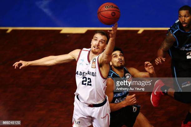 Anthony Drmic of the 36ers goes after the ball during the round five NBL match between the New Zealand Breakers and the Adelaide 36ers at North Shore...