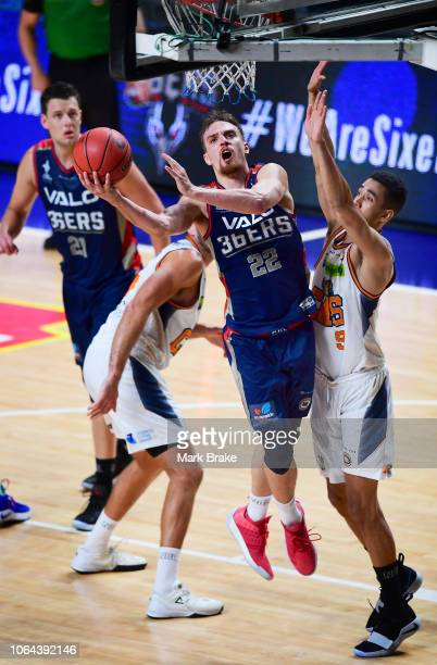 Anthony Drmic of the Adelaide 36ers shoots for goal during the round seven NBL match between the Adelaide 36ers and the Cairns Taipans at Titanium...