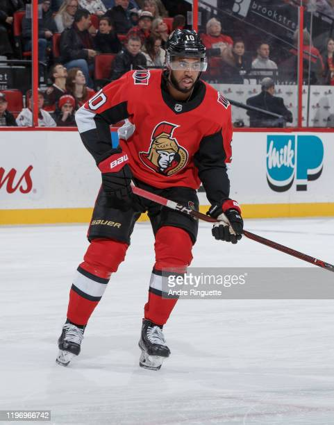 Anthony Duclair of the Ottawa Senators skates against the New Jersey Devils at Canadian Tire Centre on December 29 2019 in Ottawa Ontario Canada