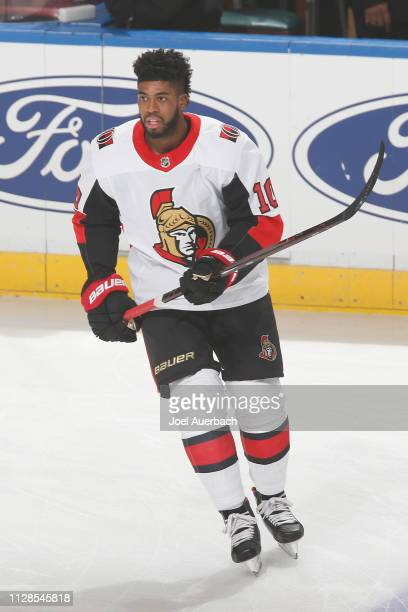 Anthony Duclair of the Ottawa Senators skates prior to the game against the Florida Panthers at the BBT Center on March 3 2019 in Sunrise Florida