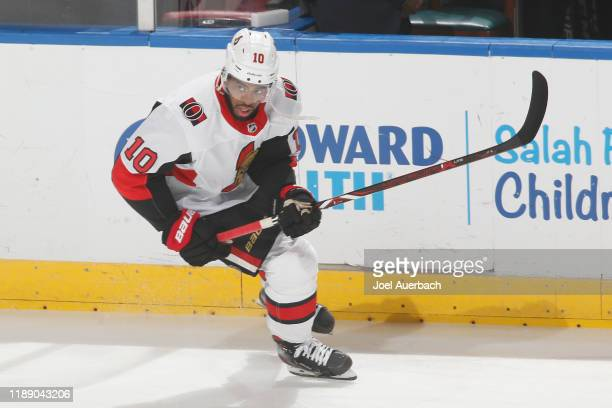 Anthony Duclair of the Ottawa Senators skates prior to the game against the Florida Panthers at the BBT Center on December 16 2019 in Sunrise Florida