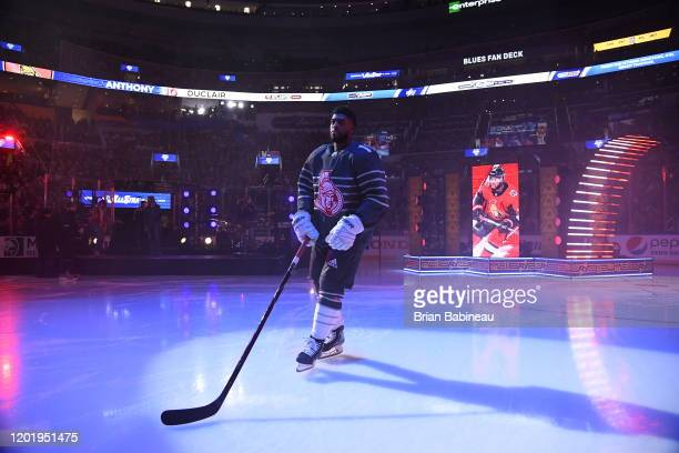 Anthony Duclair of the Ottawa Senators takes the ice during player introductions prior to the 2020 NHL AllStar Game at the Enterprise Center on...