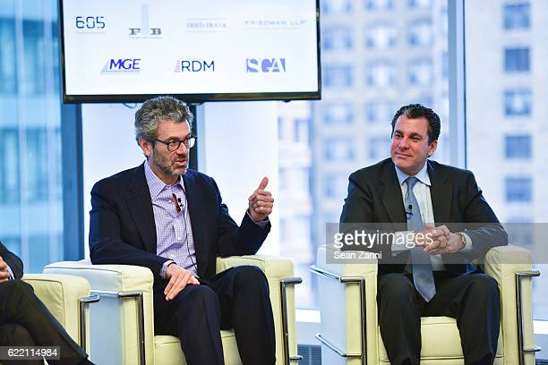 Anthony E Malkin and Peter Riguardi attend Commercial Observer The Future of Midtown East at 605 Third Avenue on November 9 2016 in New York City