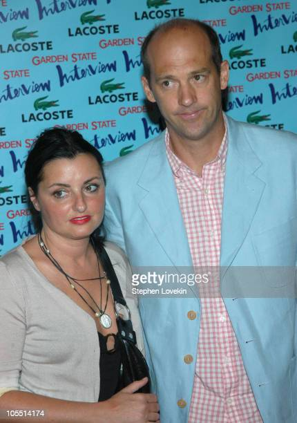 """Anthony Edwards and wife during """"Garden State"""" New York Premiere - Outside Arrivals at Chelsea Clearview Cinemas in New York City, New York, United..."""