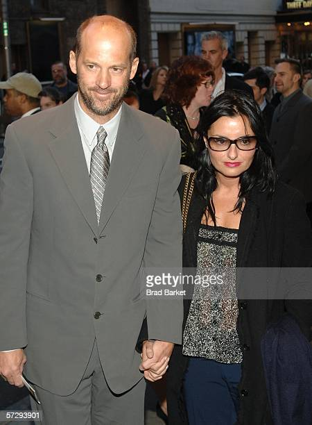 """Anthony Edwards and wife Jeanine Lobell arrive to the opening night of Almeida Theater production's """"Festen"""" on April 09 2006 in New York City."""