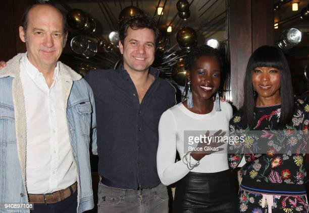 "Anthony Edwards, Joshua Jackson, Lupita Nyong'o and Angela Bassett pose backstage at the new revival of the play ""Children of a Lesser God"" on..."