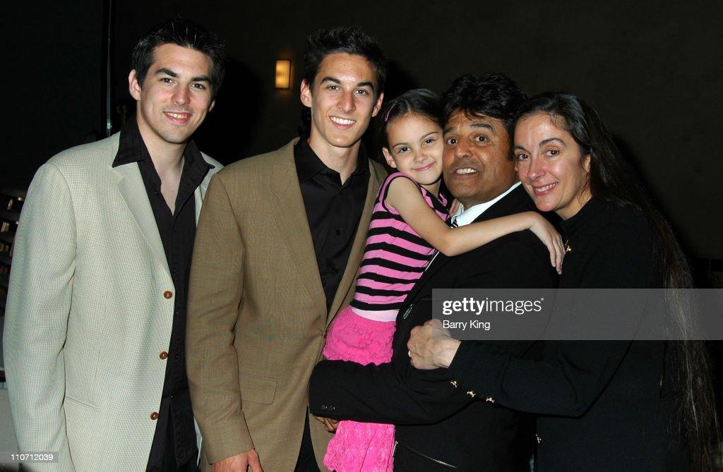 Anthony Estrada, Brandon Estrada, Francesca Estrada, Erik Estrada and Nanette Estrada